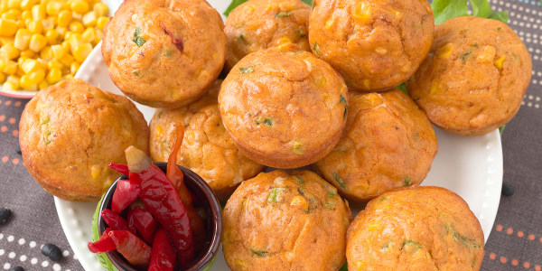 Ree Drummond's Green Chile and Cheddar Cornbread Muffins