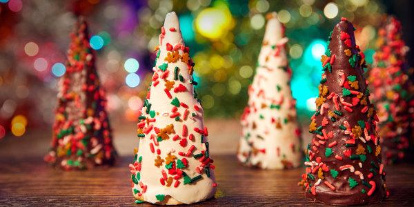 Edible Cookie Dough Christmas Trees
