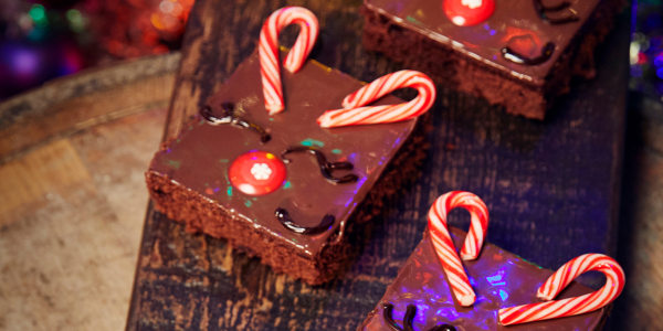 Vegan Chocolate Reindeer Brownies