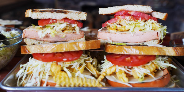 Pittsburgh Grilled Bologna Sandwich