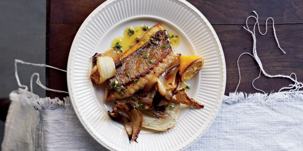 Curtis Stone's Pan-Fried Snapper with Fennel and Salsa Verde