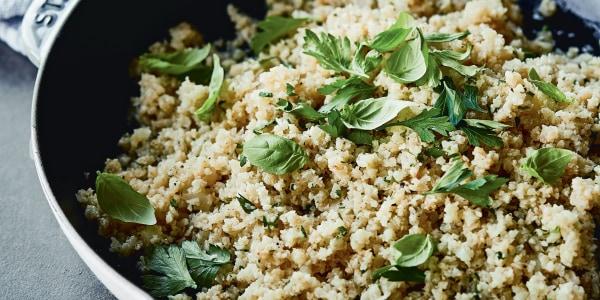 """Chrissy Teigen's Garlicky Cauliflower """"Rice"""""""