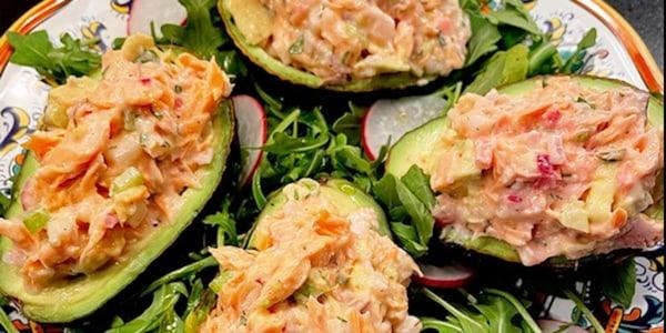 Valerie Bertinelli's Salmon Salad-Stuffed Avocados