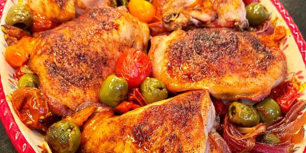 Valerie Bertinelli's Sheet-Pan Vinegar Chicken