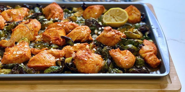 Joy Bauer's Sheet-Pan Roasted Chicken and Brussels Sprouts