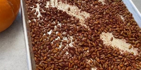 Chili-Roasted Pumpkin Seed Munchies