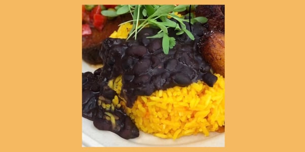 Tampa-Style Yellow Rice with Cuban-Style Black Beans