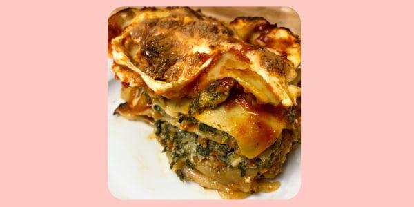 Adam Richman's Spinach and Sausage Lasagna