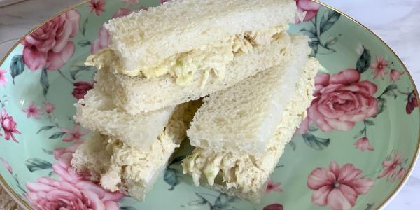 Curried Chicken Salad Tea Sandwiches