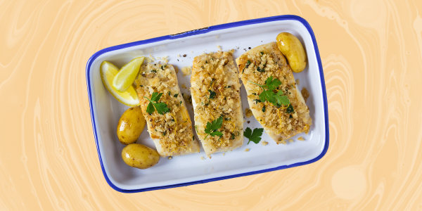 Valerie Bertinelli's Roasted Cod with Cashew-Coconut Topping