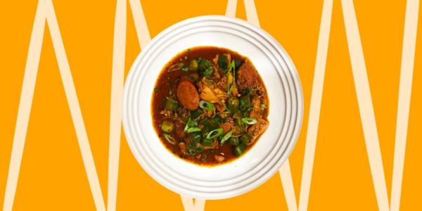 Chicken, Sausage and Okra Stew