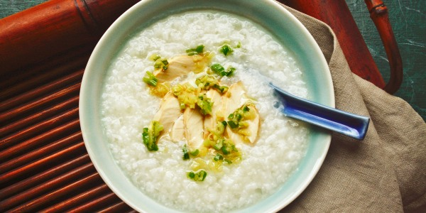 Scallion, Ginger and Chicken Congee