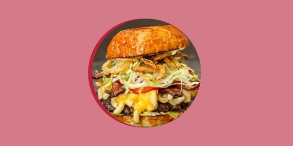 Guy Fieri's Bacon Mac and Cheese Burger