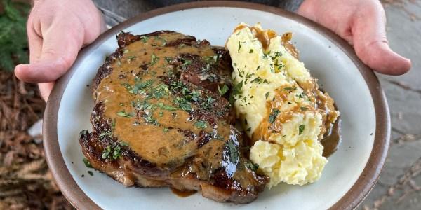 Pan-Seared Steak and Creamy Mashed Potatoes