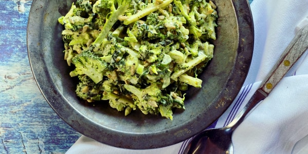 Broccoli and Green Apple Slaw with Spicy Buttermilk Ranch