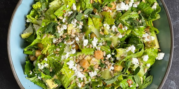 Everyday Salad with Ramp Dressing