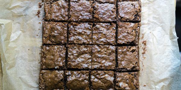 Flourless Soy Sauce Brownies