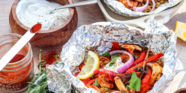 Shawarma-Spiced Chicken Foil Packets