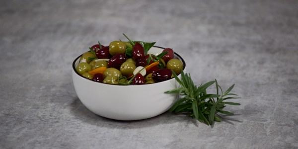 Orange-Rosemary Marinated Olives