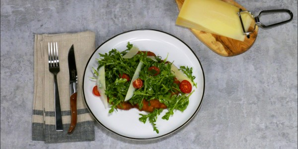 Pork Milanese with Arugula Salad and White Balsamic Dressing