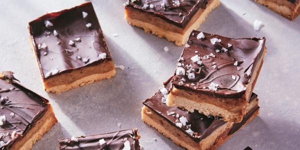 Salted Peanut Butter-Caramel Bars