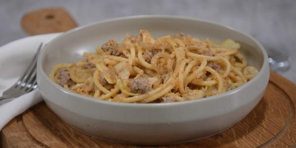 Pasta al Vino with Crispy Garlic Breadcrumbs