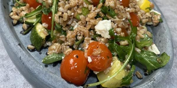 Roasted Summer Vegetable Farro Salad