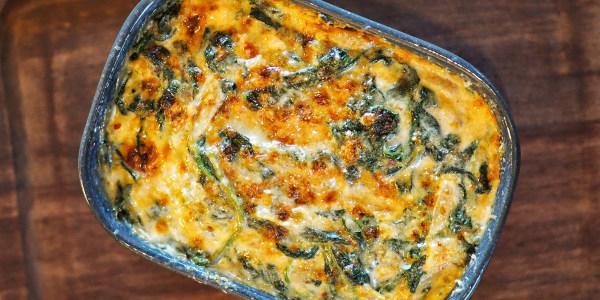 Kimchi Creamed Spinach