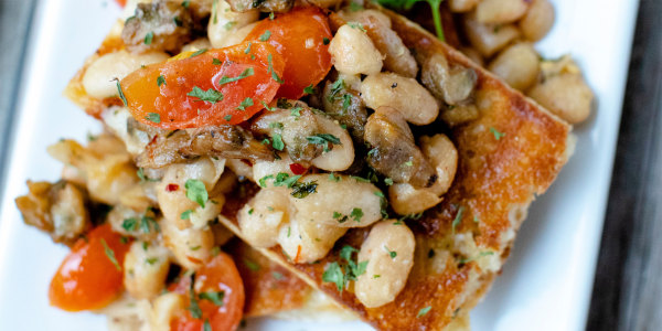 Italian Smoked Clams and White Beans on Toast
