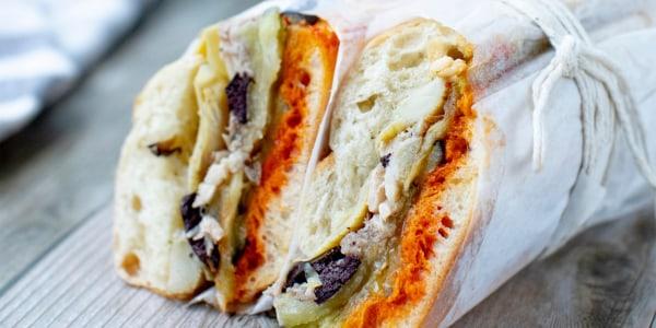 Provençal Aubergine and Dorade Pressed Sandwich