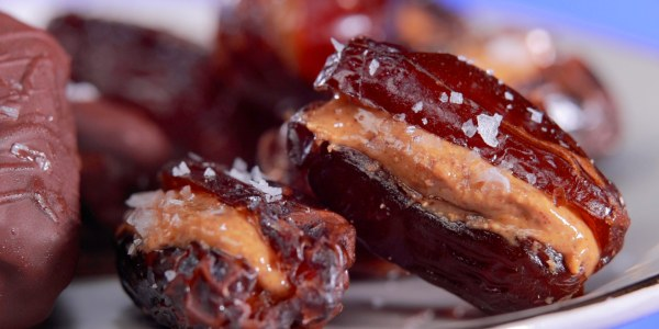 Stuffed Dates with Almond Butter and Sea Salt