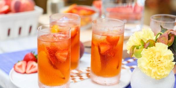Strawberry-Peach Cold Brew Iced Tea