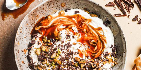 Salted Caramel Cannoli Dip