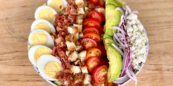 Chicken Cutlet Cobb Salad with Dijon Vinaigrette