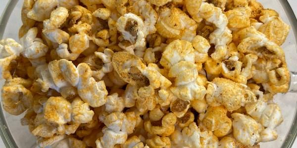Cheesy Barbecue Popcorn