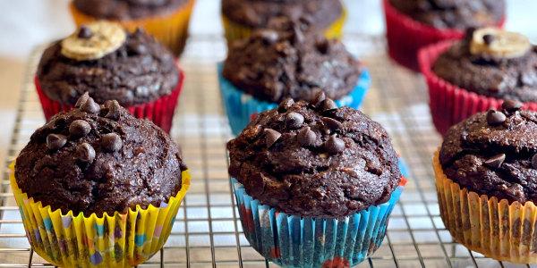 Chocolate-Banana Muffins