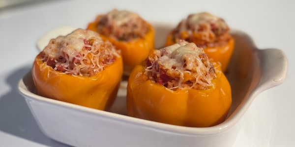 Rice and Sausage Stuffed Peppers