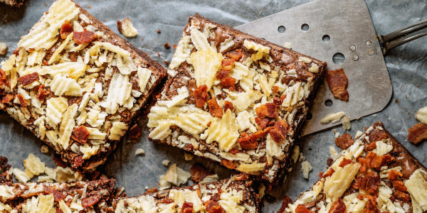 Potato Chip and Bacon Brownies
