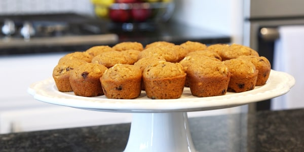 Blender Banana Muffins with Carrots and Oats