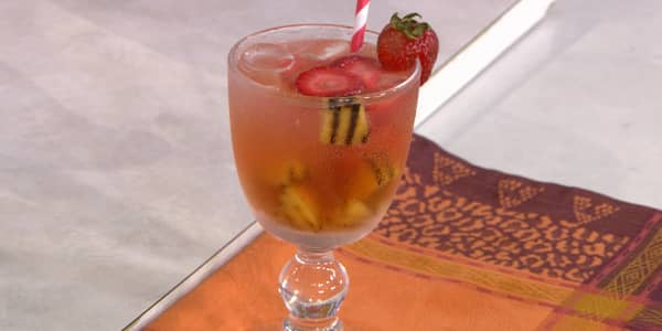 White Sangria with Grilled Peaches