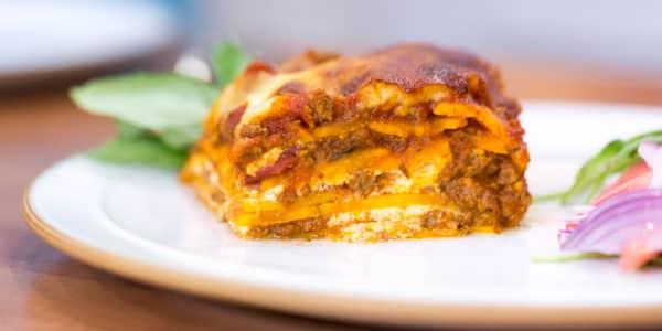 Low-Calorie Gluten-Free Sweet Potato Lasagna
