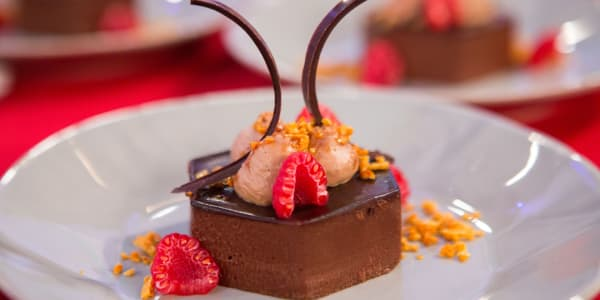 Chocolate Mousse With Honeycomb and Caramelia Cream