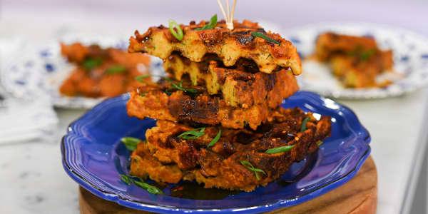 Savory Cornbread Waffles