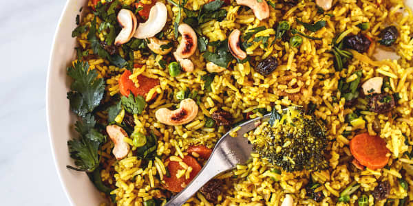 Sheet Pan Vegetable Coconut Curry Rice