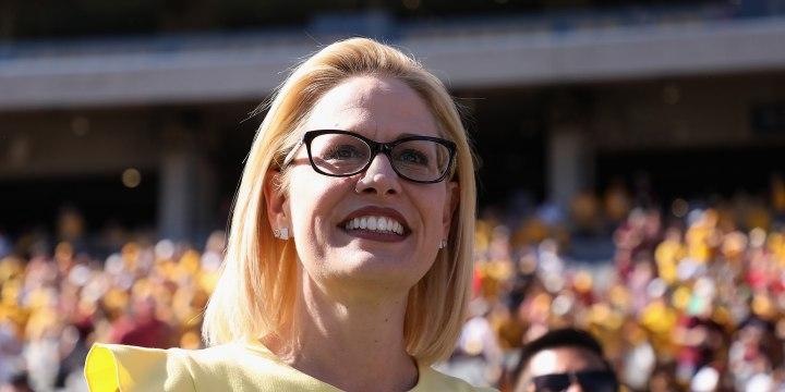 Image: Arizona Senate Candidates Attend Arizona State Football Game
