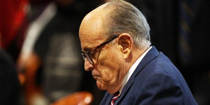 Image: Rudy Giuliani Appears Before Michigan State Legislature's House Oversight Committee