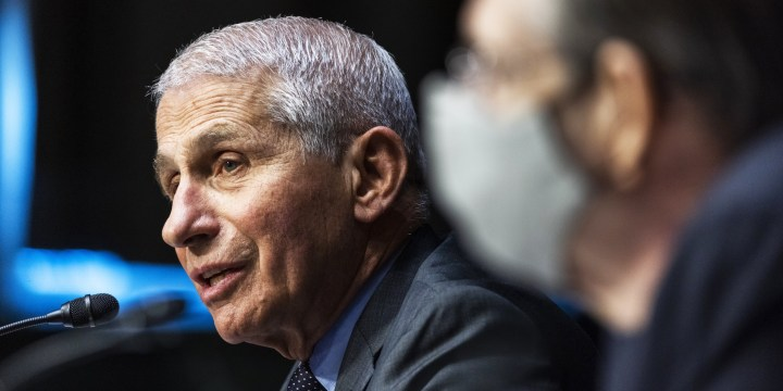 Dr. Anthony Fauci testifies before a Senate hearing on May 11, 2021.