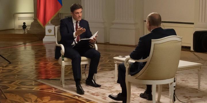 Image: NBC News interview with Vladimir Putin.