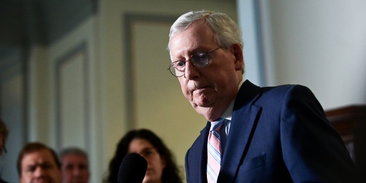 Senate Minority Leader Mitch McConnell, R-Ky., speaks on Capitol Hill on May 25, 2021.