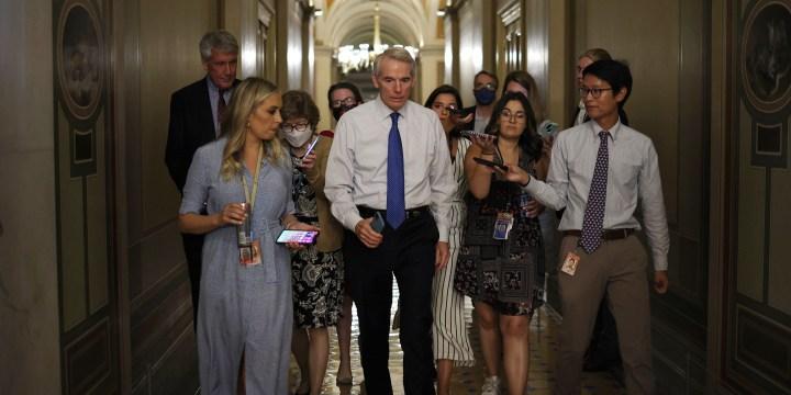 Image: U.S. Senate Negotiates Ahead Of Possible Cloture Vote On Infrastructure Bill